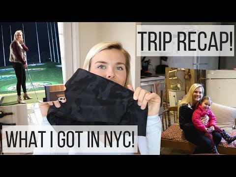A Weekend In New Jersey   NYC Haul, TopGolf, & Training Tip