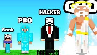 Evolving in a MAX LEVEL MINECRAFT PLAYER in Noob vs Pro vs Hacker vs God