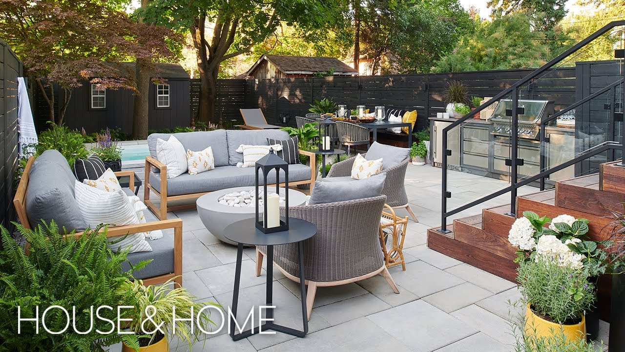 Makeover: City Backyard With Outdoor Kitchen & Spa