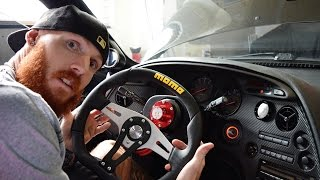 DIY Quick Release Steering Wheel With Horn Install! On Toyota Supra!