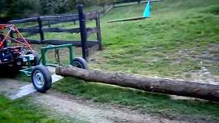 wózek przyczepka do drzewa