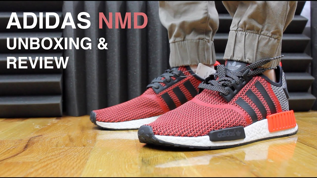 a2d555273 ADIDAS NMD R1 LUSH RED REVIEW AND UNBOXING - YouTube