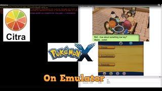Pokemon X On PC Playble On Citra Emulator