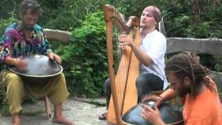 Two Hang  and Celtic harp improvisation 2