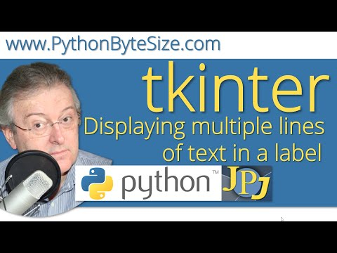 Displaying multiple lines of text in a Python tkinter label - YouTube