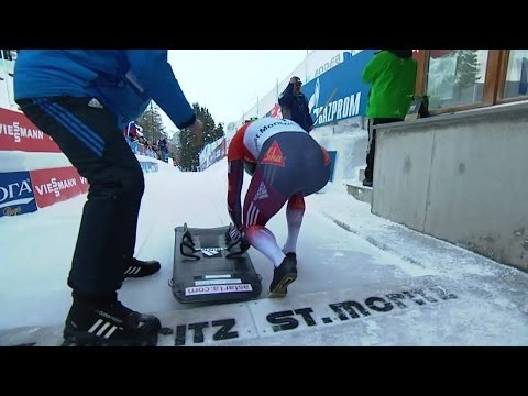 IBSF | Men's Skeleton World Cup 2013/2014 - St. Moritz Heat 1 (Race #1)