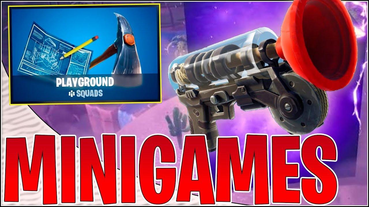 MINIGAMES I PLAYGROUND v8! | Dansk Fortnite