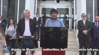 Evo Morales arrives in Mexico with political asylum