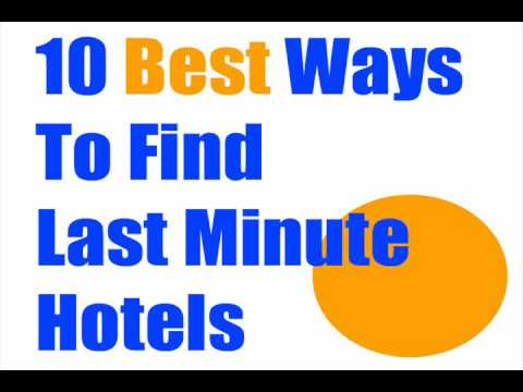 Find Last Minute Hotels