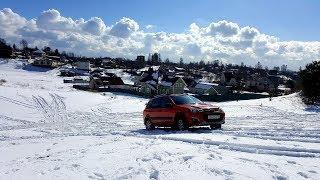 Калина Кросс - снежные холмы. По следам видео Академика Дастеры против Субару в снежных полях