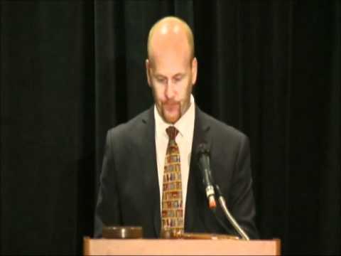 Alberta Minister of Education, Jeff Johnson, brings greetings to ARA delegates