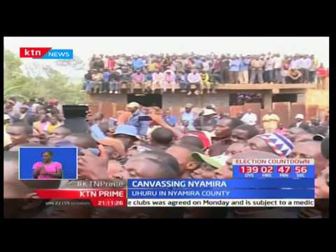 President Uhuru Kenyatta tells Nyamira residents that NASA has nothing new to offer