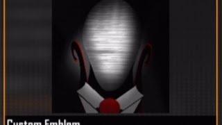 Black Ops 2 Slender Man Emblem (SCARY)