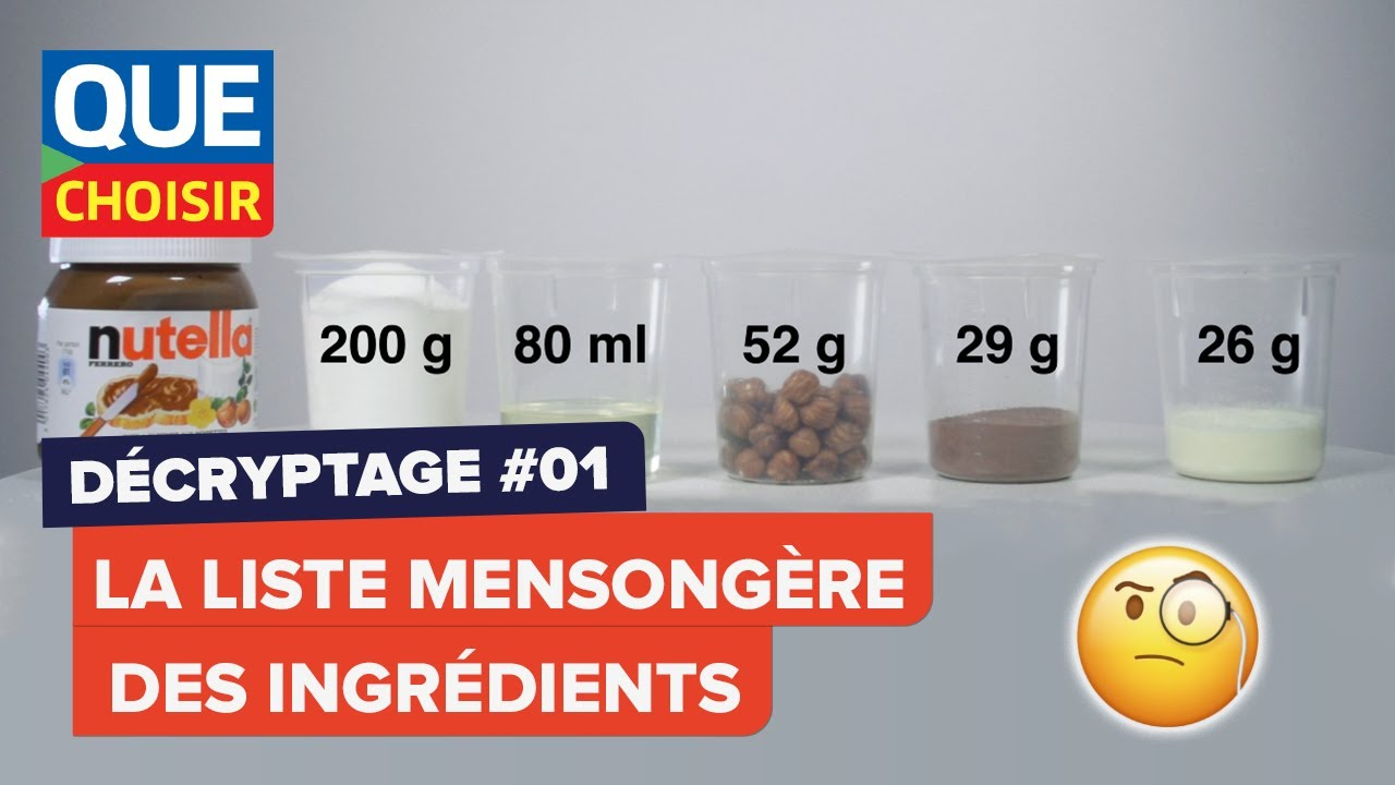 Nutella quels ingr dients dans un pot youtube - Lampe pot de nutella ...