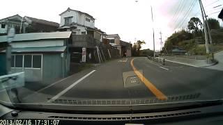 奈多海岸→国道213号線→杵築市街