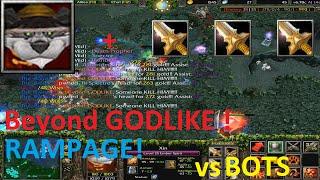 DotA - Ember Spirit Beyond GODLIKE vs Bots  (RAMPAGE)