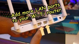 How to add more faster LAN ports to your WiFi router (adding an gigabit Ethernet switch)