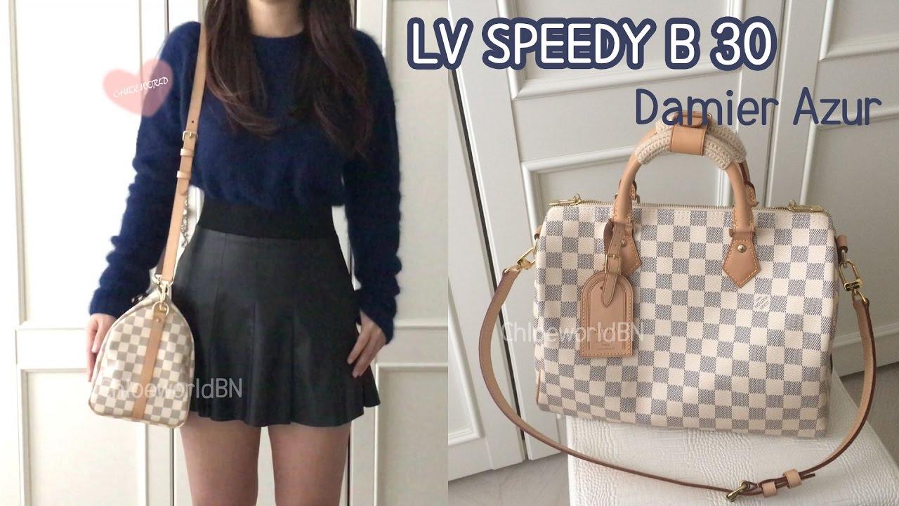 Lv Speedy 30 Damier Azur