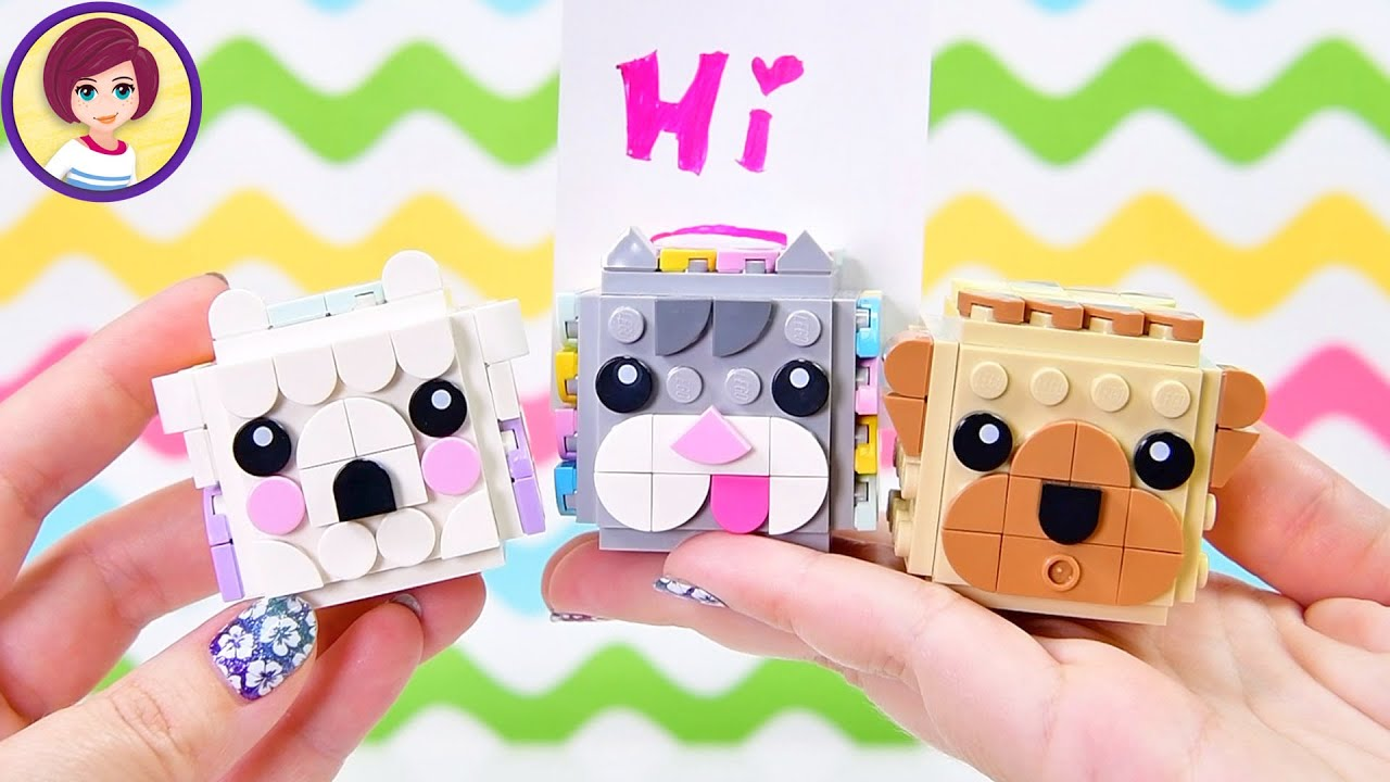Lego Dots Animal Picture Holders Build & Review Craft DIY   these are crazy  adorable