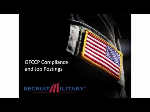 OFCCP Compliance   Job Postings