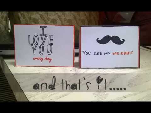 DIY Tiny Love Cards for your lover