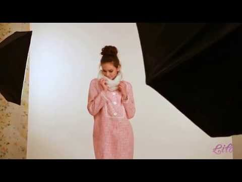 фото розовое пальто