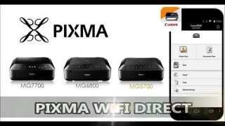 Pixma Wifi Direct on MG7700, MG6800, MG5700 series (30 seconds)