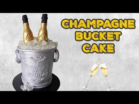 Champagne bucket cake tutorial