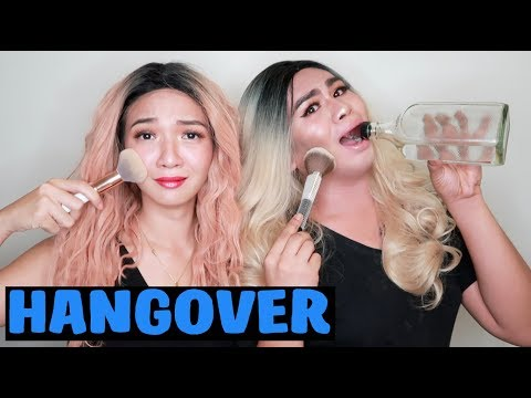 Drunk Make Up Challenge with Angel Dei! (TAGAY PA MAMSH)