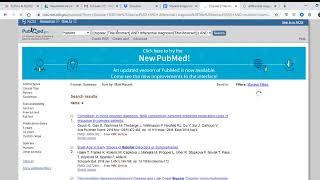Busca de artigos científicos no Pubmed