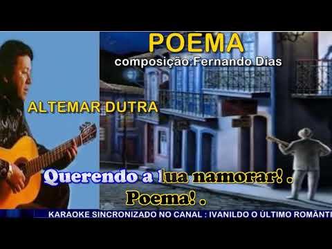 Poema  - Altemar Dutra  - karaoke