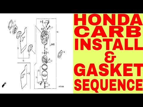HOW TO INSTALL MOST HONDA CARBURETORS / GASKET SEQUENCE!!