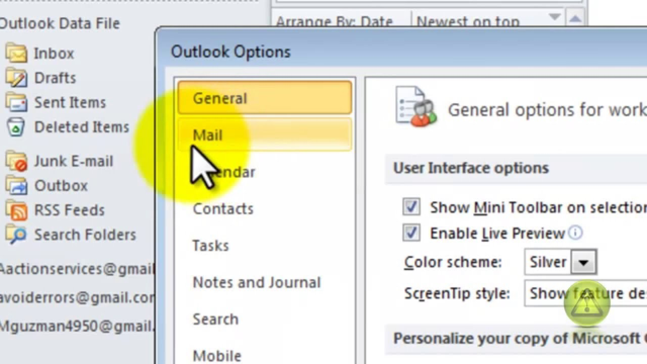 how to get a read receipt in outlook 2010