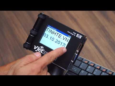 Máy in cầm tay đóng date, code... Trên tay & Hướng dẫn sử dụng