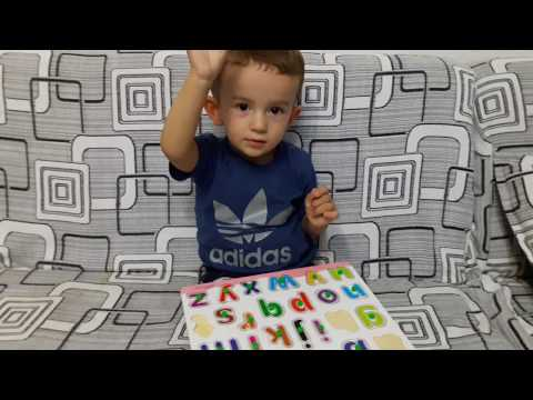 Diar, 20 months baby know all english alphabet letters.