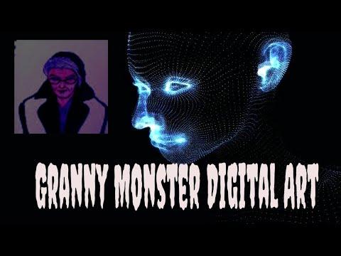 Granny Monster Digital Art