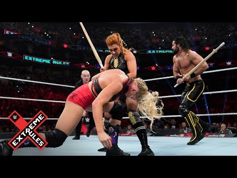 Becky Lynch And Seth Rollins Go On A Kendo Stick Rampage: WWE Extreme Rules 2019