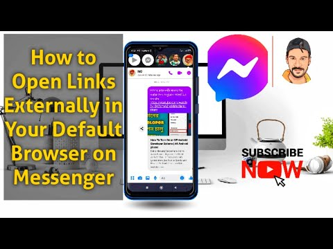 How to Open Links Externally in Your Default Browser on Messenger - Google Chrome, Firefox etc