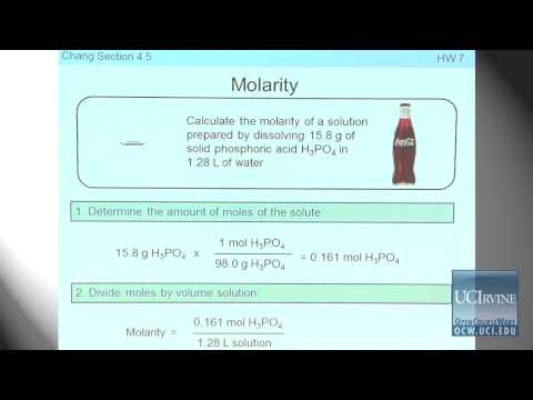Preparation for General Chemistry 1P. Lecture 16. Aqueous Solutions.