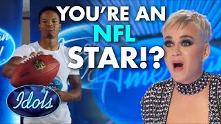 NFL PLAYER AUDITIONS FOR AMERICAN IDOL | Idols Global