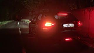Как светят LED фары Haval F7?