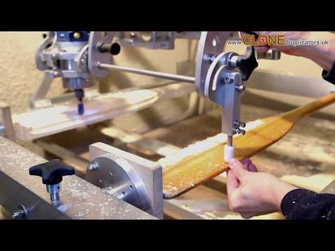 Clone 4D Router Duplicator - carving a wooden paddle