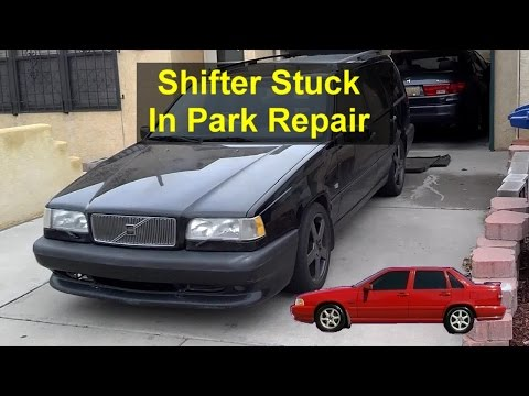 Shift lock solenoid replacement, have to push button to release, Volvo 850, S70, V70, etc. – VOTD