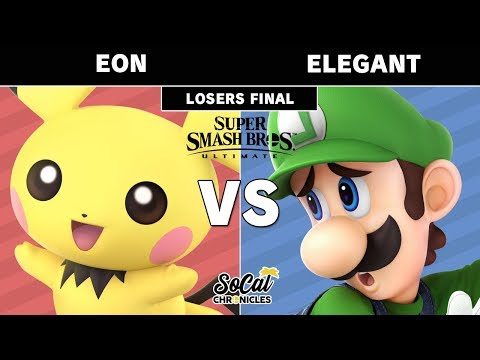 Smash Ultimate Tournament - Elegant (Luigi) vs Eon (Pichu) Losers Finals - SoCal Chronicles