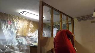 Wall removal of kitch/dining time lapse video by LG V10