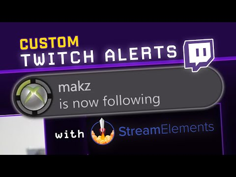 How To Make A Custom Twitch Alert On Stream Elements HTML/CSS (Xbox 360 Notification)