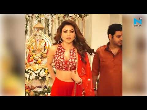 urvashi-rautela-looks-super-sexy-in-red-and-orange-dress