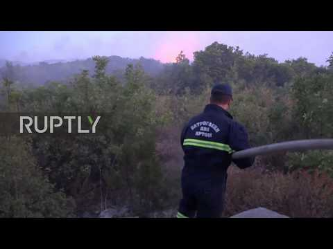 Montenegro: Hundreds evacuated as wildfires rage along Adriatic coast