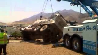 Ewing Bros Towing, Dumptruck rollover upright