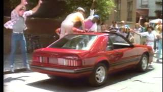 1982 Ford Mustang TV Ad Commercial  (1 of 4). Fame spoof!